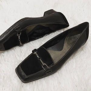 Aerosoles Leather Chunky Heel Loafers